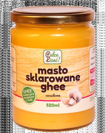Masło-sklarowane-Ghee-z-czosnkiem-520-ml